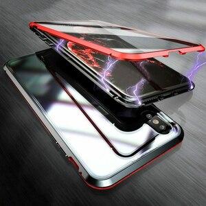 Image 2 - اثنين من جانب الزجاج المقسى حقيبة هاتف محمول الامتزاز المغناطيسي غطاء مقاوم للصدمات EM88