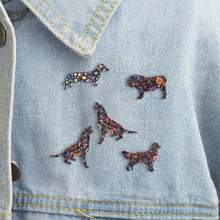 1pcs Brooch Enamel Cartoon Dachshund Dog Brooches Clothes Scarf Decoration Jewelry Pin For Women Girls Gift Bijoux Unisex(China)
