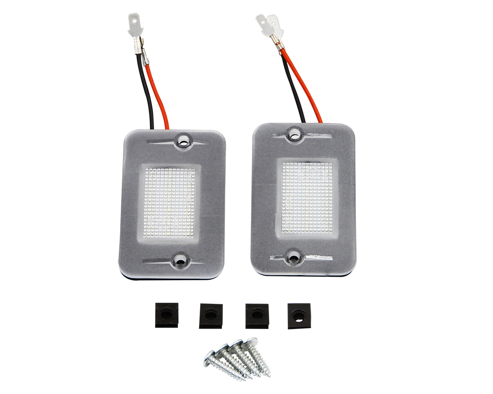 1 2 pares lâmpada led placa de