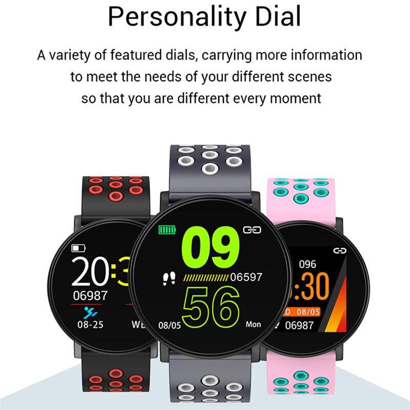 Спортивные Смарт-часы для мужчин, водонепроницаемые Смарт-часы для измерения артериального давления для женщин, монитор сердечного ритма, ...