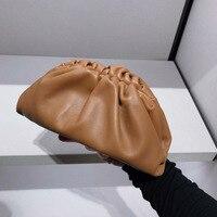 Summer 2019 New Cloud wrapped Soft Split Leather Madame Bag Single Shoulder Slant Dumpling Bag Handbag Day Clutches bags