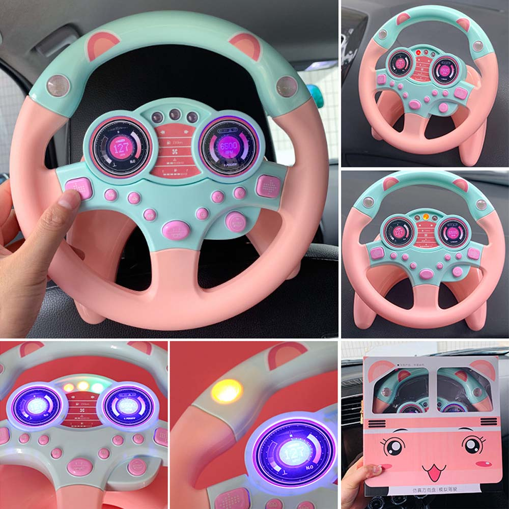 Children's Music Simulation Small Steering Wheel Luminous Early Education Puzzle Sound Toy Birthday Gift