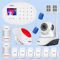 KERUI Home Safety Alarm System Infrared Motion Induction Door Magnetic Induction Device Wifi Camera Alarm Flash Combination Kit