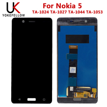 100% Tested LCD Display For Nokia 5 TA-1024 TA-1027 TA-1044 TA-1053 LCD Display With Touch Screen Assembly стоимость