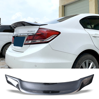 Car Trunk Spoiler Carbon Fiber Auto Rear Trunk Wing R Style Refit Accessories Spoiler For Honda Civic 2014 2015