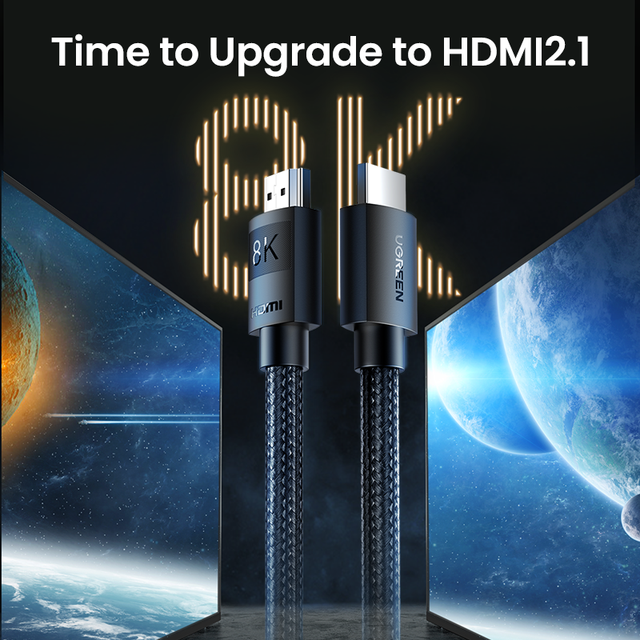 Ugreen HDMI 2.1 Cable Ultra High-speed 8K/60Hz 4K/120Hz for Xiaomi Mi Box PS5 HDMI Splitter Cable HDMI Dolby Vision 48Gbps HDMI 2