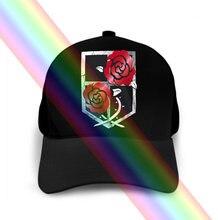 Mauergarnissan – casquette pour Homme, chapeau, Titan, emblème, gant, Attaque Sur Aot, Eren Blason, Rose