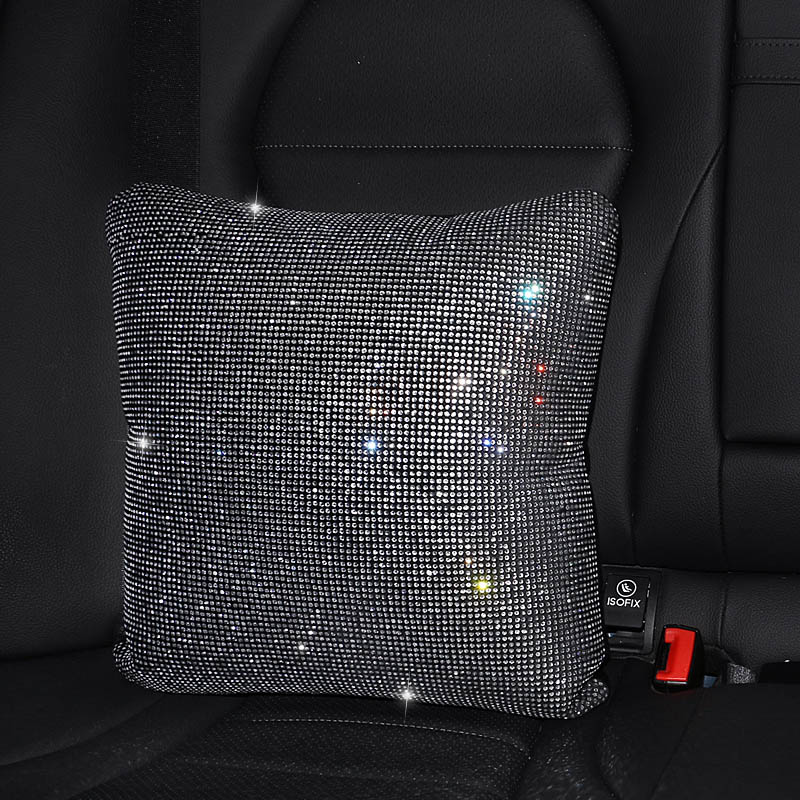 Rhinestones-Crystal-Car-Seat-belt-cover-pad-Neck-pillow-Waist-Support-15