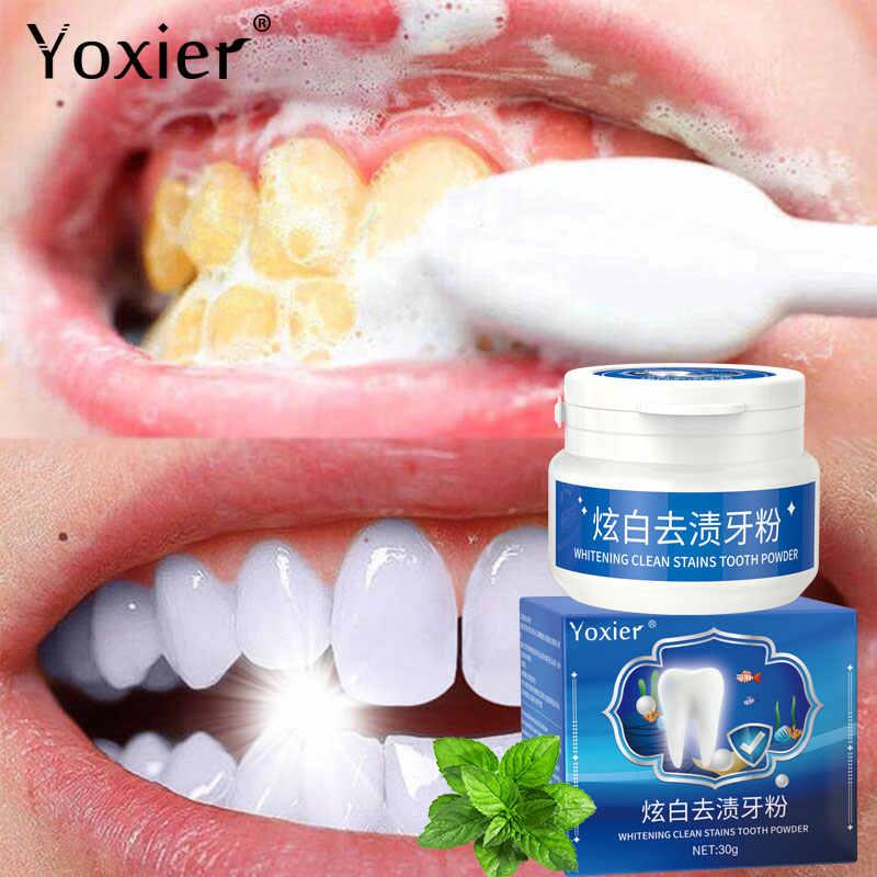 Yoxier Làm Trắng Làm Sạch Vết Bẩn Răng 30G Bảo Vệ Sáng Răng Chăm Sóc Răng Miệng Răng Vệ Sinh Hơi Thở Thơm Mát Loại Bỏ Răng Vết Bẩn