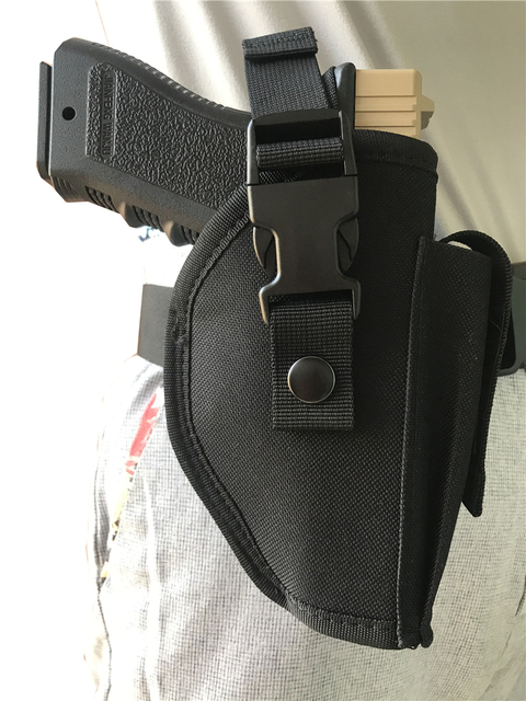 Tactical Pistol Gun Glock Holster with Magazine Pouch Concealed Carry Handgun Holder Fit Most Size for Right Hand 1