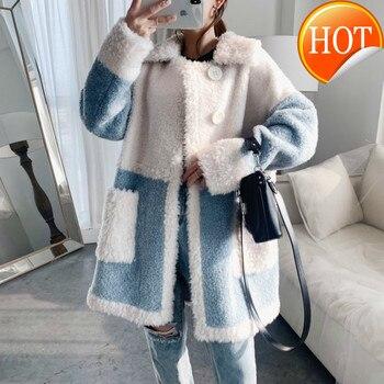Abrigo de invierno otoño ropa de Mujer 2020 coreano Abrigo de piel...