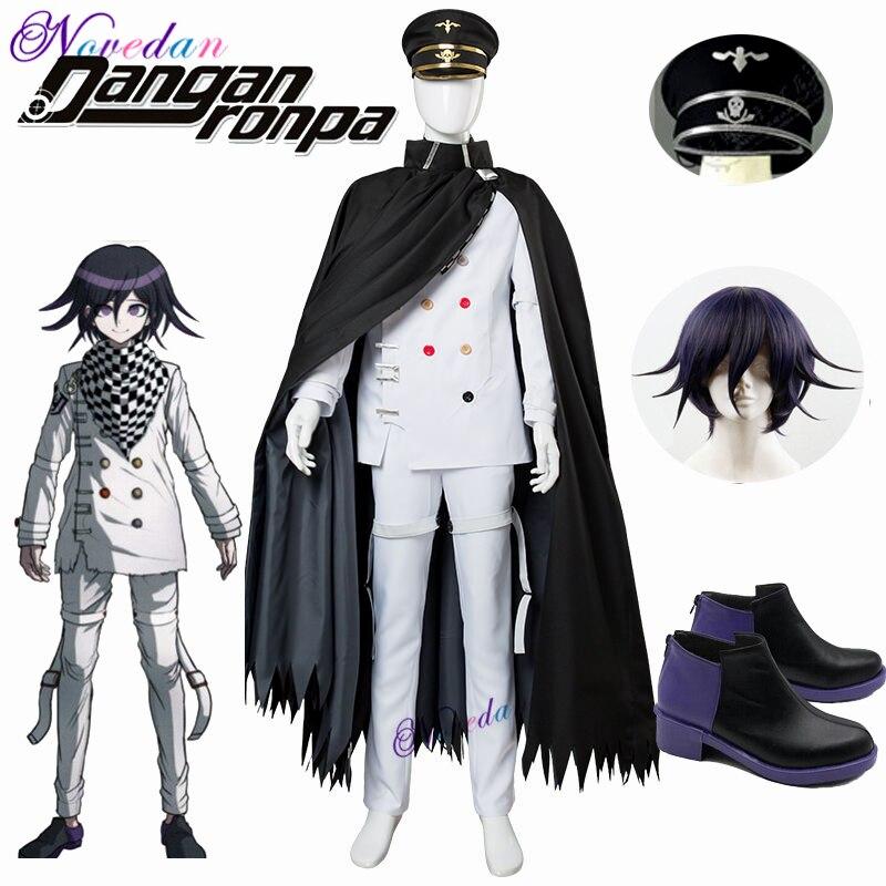 Anime DanganRonpa V3 Cosplay Dangan Ronpa Ouma Kokichi Costume Halloween Costume Wig Hat For Adult Men
