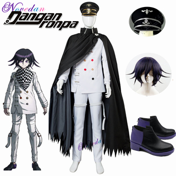 Anime DanganRonpa V3 Cosplay Dangan Ronpa Ouma Kokichi Costume Halloween Costume Wig Hat For Adult Men недорого
