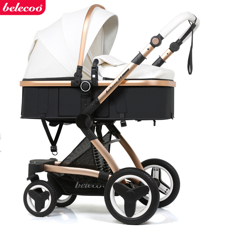Belecoo Stroller 2-in-1 Eco Leather Shock Absorber Free Shipping