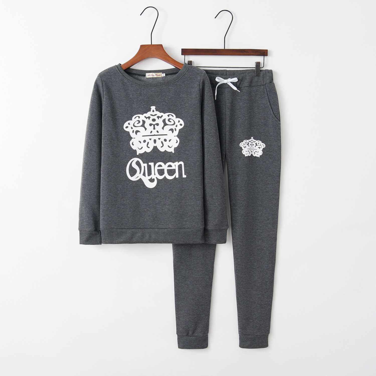 Print Queen 2020 New Design Fashion Hot Sale Suit Set Women Tracksuit Two-piece Style Outfit Sweatshirt Sport Wear