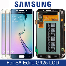 الأصلي سوبر Amoled LCD لسامسونج غالاكسي S6 حافة G925 G925F SM G925F مع شاشة تعمل باللمس محول الأرقام الجمعية استبدال