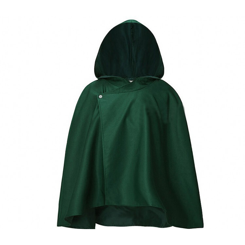 Aot Cosplay Japanese Hoodie Attack on Titan Cloak Shingeki no Kyojin Scouting Legion Cosplay Costume anime cosplay green Cape me 3