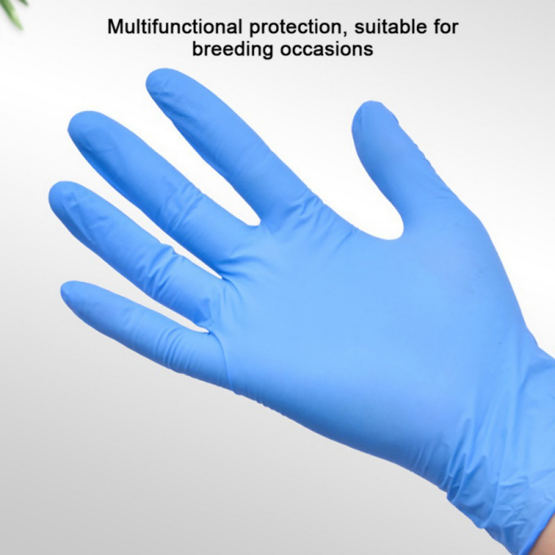 100pcs Disposable Protective Gloves Health Care Thicken Nitrile Gloves Latex Free Powder Free Textured S M L Drop Shipping
