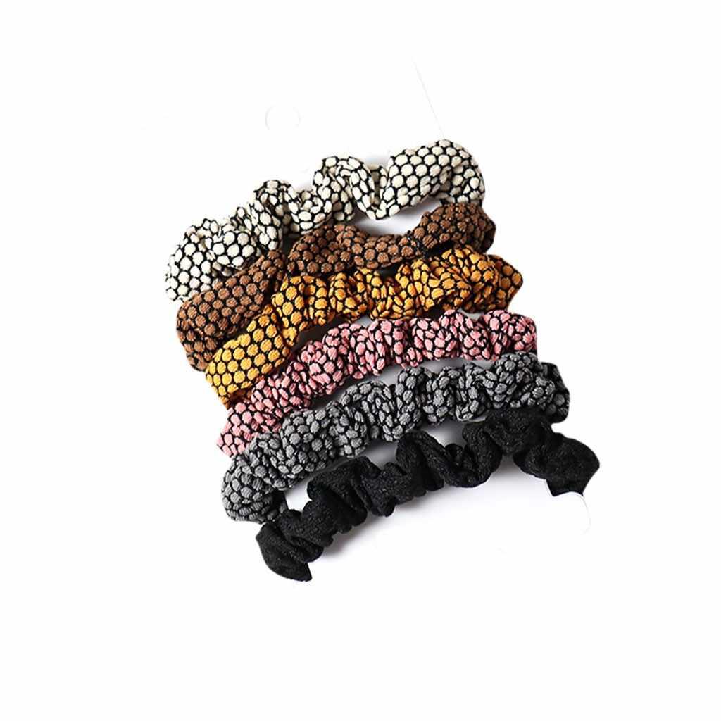 Damen Nette Farbe Tuch Haar Ring Einfache Haar Seil Mädchen Haar Zubehör Chouchou Cheveux Femme Haar Zubehör Für Frauen
