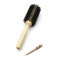 6 Sizes Barber Salon Wood Handle Boar Bristles Round Brush Removable Tail Professional Hairdressing Hair Brush Hair Round Comb
