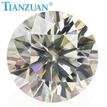 3mm to 12mm IJ color white Round Brilliant cut moissanite loose gems stone