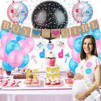 День рождения ребенка Душ пол показать поставка украшений для вечеринок мальчик или девочка баннер воздушные шары торт Топпер набор украше...