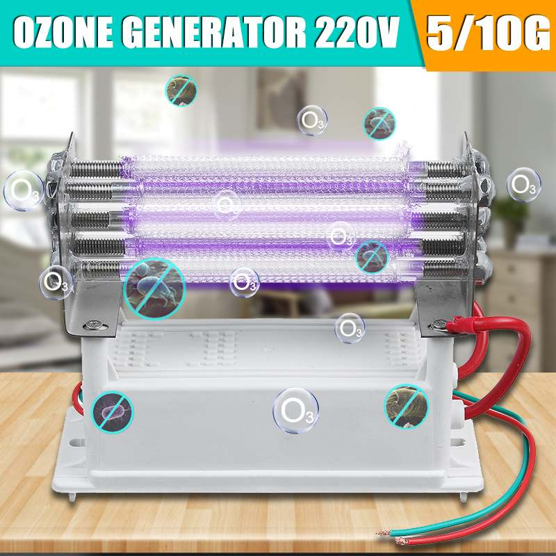 Ozone Generator 220V 5g/10g Quartz linear Light Ozonizador Ozonator Air Purifiers Sterilization Deodor
