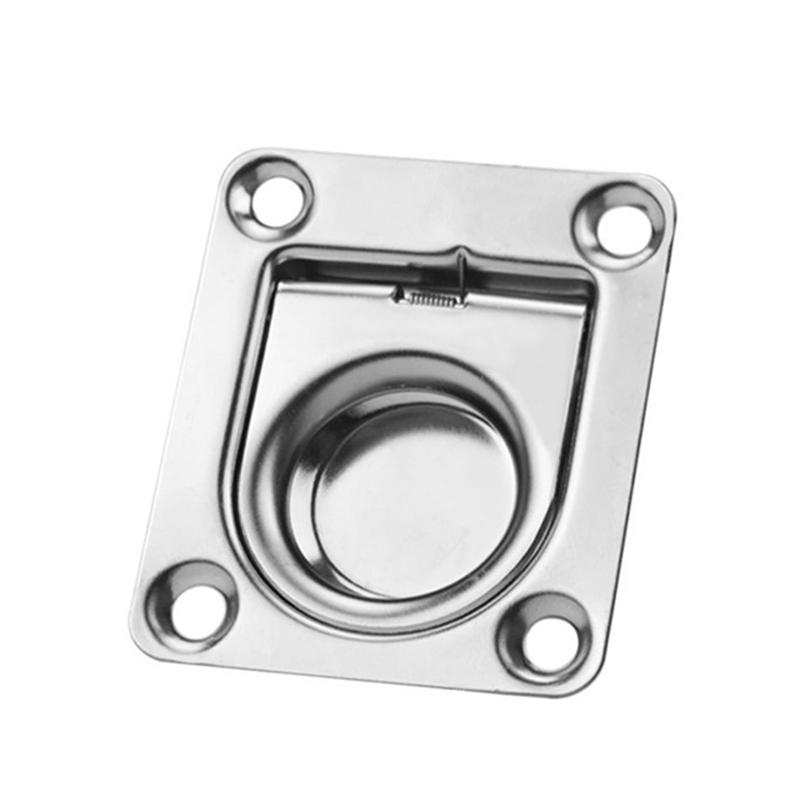 2PCS Marine Deck Cover Handle <font><b>Boat</b></font> Deck <font><b>Hatch</b></font> Cabinet Drawer Lifting Handle Pull Ring <font><b>Boat</b></font> Accessories image