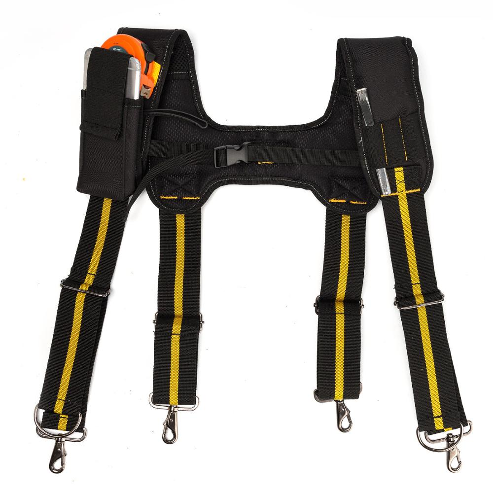 Multifunctional Tooling Harness tool Men Work Tool Belt H-type engineering Tool Belt Bag Lighten Waist Load Suspenders Straps