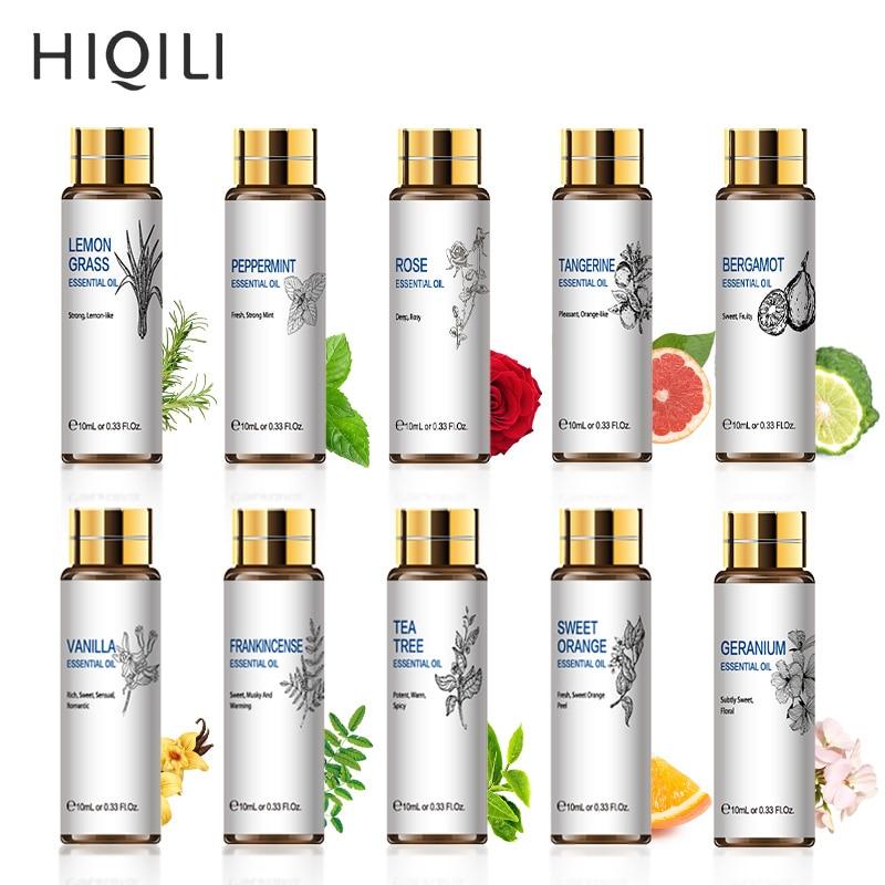 HIQILI Orange Tea Tree Essential Oils 10ML Diffuser Aroma Oil Eucalyptus Vanilla Bergamot Lemongrass Rosemary Chamomile Oil-0