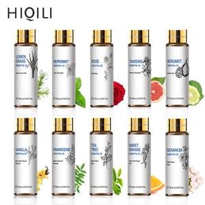 HIQILI Orange Tea Tree Essential Oils 10ML Diffuser Aroma Oil Eucalyptus Vanilla Bergamot Lemongrass Rosemary Chamomile Oil