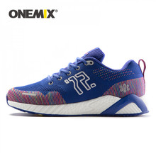 ONEMIX الرجال احذية الجري النساء أحذية رياضية للجنسين Tranier للخارجية المشي الرحلات الدانتيل يصل الرجال الرجعية أحذية للمشي