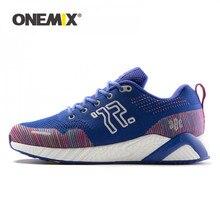 Onemix tênis de corrida dos homens das sapatilhas esportivas unisex tranier para caminhada ao ar livre trekking rendas até sapatos retro jogging