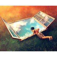 Diy картина по номерам трава skylight комплект маслом с изображением