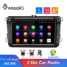 Podofo  8 Android  GPS 2 Din Car Radio Bluetooth Auto Stereo Multimedia Player Audio For Seat/VW/Skoda/Passat/Golf/Polo