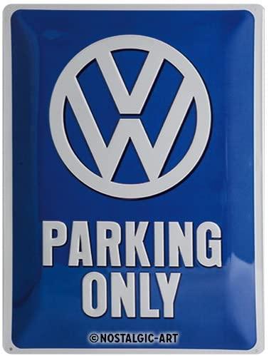 Nostálgico-arte retro estanho sinal volkswagen vw estacionamento apenas ideia do presente do carro, placa de metal,