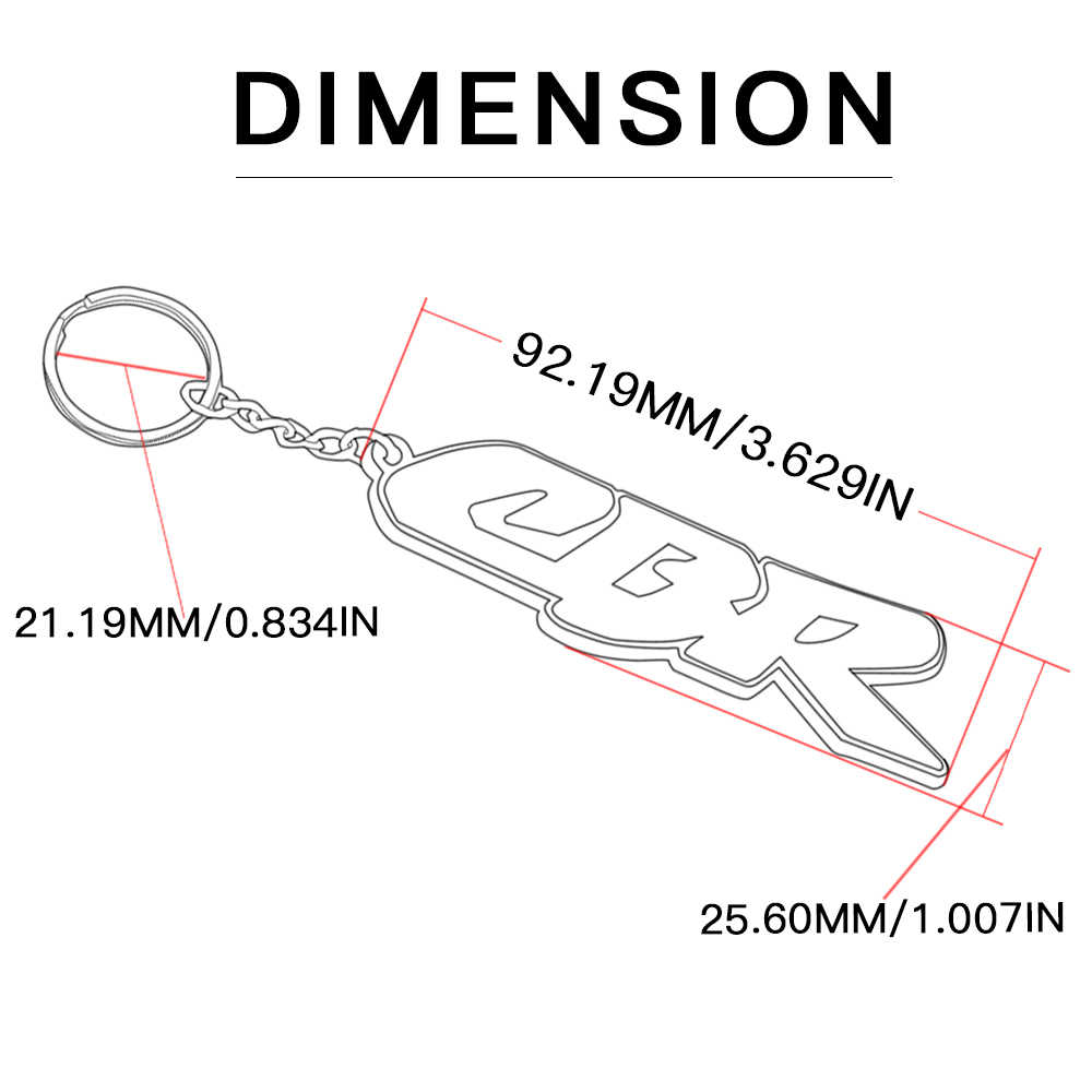 Aksesoris Motor 3D Gantungan Kunci Gantungan Kunci Gantungan Kunci Gantungan Kunci Karet untuk HONDA CBR 600 RR CBR 1000RR 400R 250R 300R CBR 650F