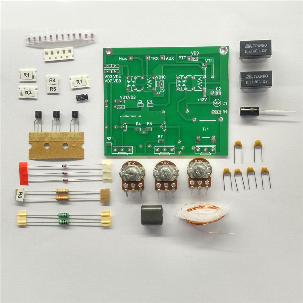 Disassembled PCB With Components DIY Assembly Kit Of QRM Eliminator X-Phase (1-30 MHz) HF Bands