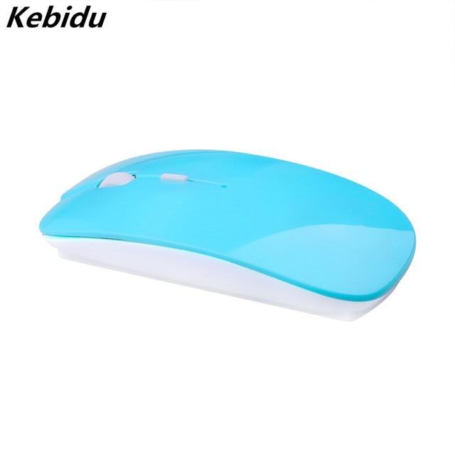 Kebidumei 2.4Ghz USB optik kablosuz fare fare süper ince ince fare oyun alıcısı Mini Macbook PC Laptop için bilgisayar