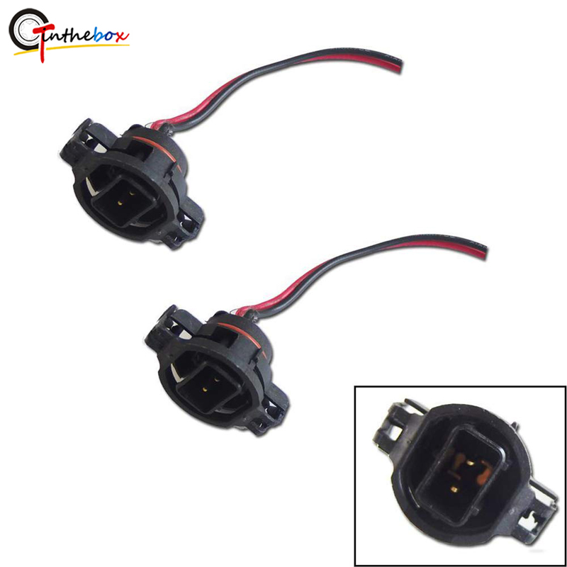 5202 2504 PS24W H16 Bulbs Male Connector Wiring Pigtail Plug Harnesses Sockets For Fog Lights Daytime Running Lamps DRL Retrofit(China)