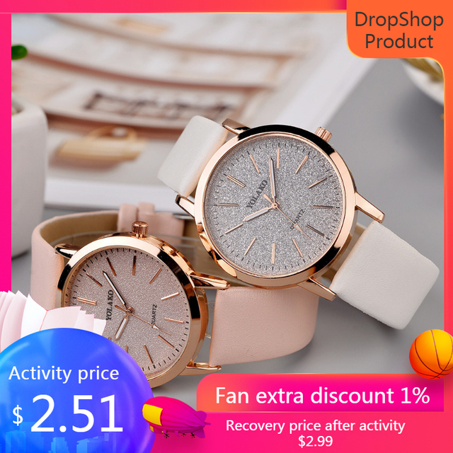Top Brand High Quality Fashion Womens Ladies Simple Watches Geneva Faux Leather Analog Quartz Wrist Watch clock saat Gift