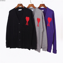 new men's autumn and winter cardigan love in the form of Cora?? V-fish logo? Rectum? Cardigan sweater cardigan jacket men's wear
