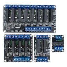 Низкий уровень 5 в 1/2/4/8 канальный твердотельный релейный модуль SSR G3MB-202P 240 В 2A выход с резистивный плавкий предохранитель для Arduino 1 2 4 8 способ