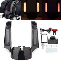 Motorcycle Rear Fender Extension Fascia LED Turn Signal Brake Tail Lights For Harley Touring Road King Electra Glide 2014 2019