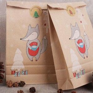Image 2 - Joyeux noël cadeau sacs arbre de noël en plastique sac demballage flocon de neige noël boîte de bonbons nouvel an 2021 enfants faveurs sac Noel décor