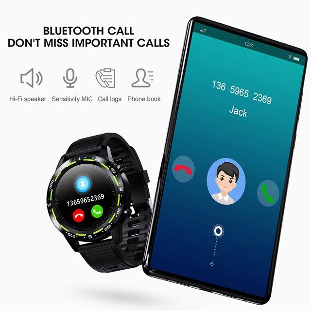 L12 inteligentny zegarek mężczyźni kobiety ekg SmartWatch z kontrolą tętna w pełni z okrągłych dotykowych inteligentnych zegarków IP68 opaska monitorująca aktywność fizyczną bransoletka VS DT78
