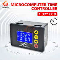 DC 12V 24V AC 110V 220V Digital Cycle Timer Delay Relay Module with Dual LED Display Time Controller Timing Relay Switch