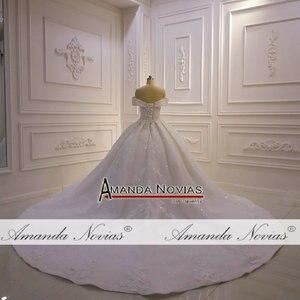 Image 2 - את כתף רצועות מלא תחרה ואגלי חתונת שמלת 2020 אמנדה novias
