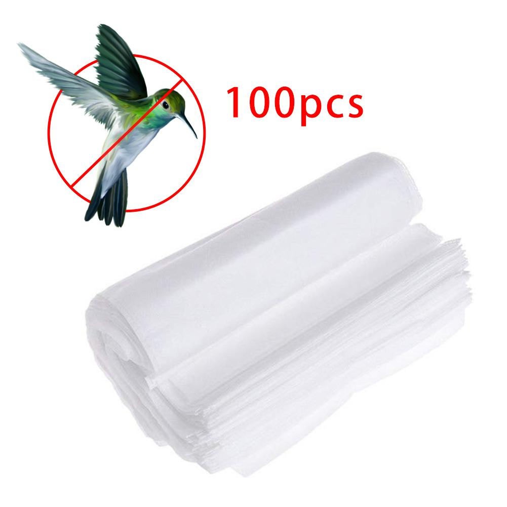 100Pcs Grape Protection Bags For Fruit Vegetable Grapes Mesh Bag Against Insect Pouch Waterproof Pest Control Anti-Bird Garden