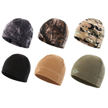 56-60cm Outdoor Training Camouflage Thermal Windproof Fleece Hat Men Winter Cycling Camping